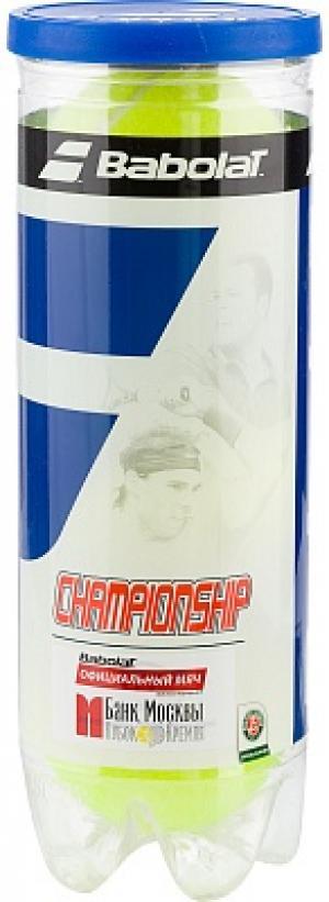 Набор мячей для большого тенниса Championship X3 Babolat. Цвет: желтый