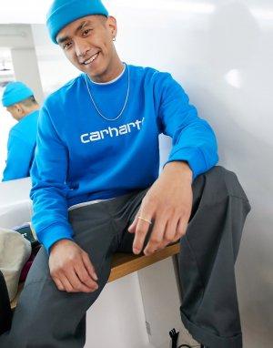 Свитшот с логотипом -Синий Carhartt WIP