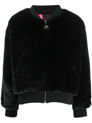 Фактурная куртка-бомбер Chiara Ferragni. Цвет: черный