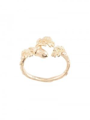 Кольцо в форме листьев Karen Walker. Цвет: золотистый