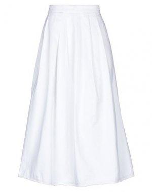 Юбка длиной 3/4 PENCE. Цвет: белый