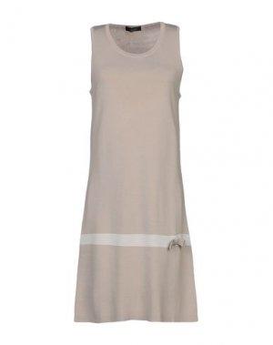 Короткое платье ALJSSA. Цвет: серый