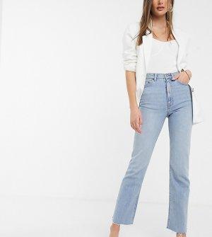 Светлые расклешенные джинсы до щиколотки с завышенной талией ASOS DESIGN Tall-Синий Tall