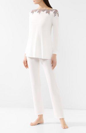 Пижама из вискозы Ritratti Milano. Цвет: белый