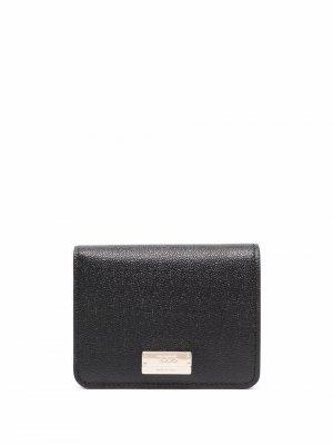 Tods leather bi-fold wallet Tod's. Цвет: черный
