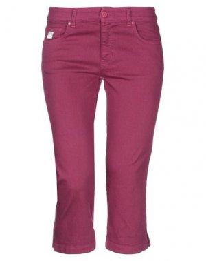 Джинсовые брюки-капри REDValentino. Цвет: пурпурный