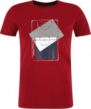 Футболка мужская , размер 54 Demix. Цвет: красный