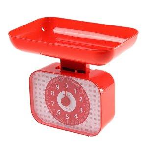 Весы кухонные luazon lvkm-1001, механические, до 10 кг, чаша 1200 мл, красные Home