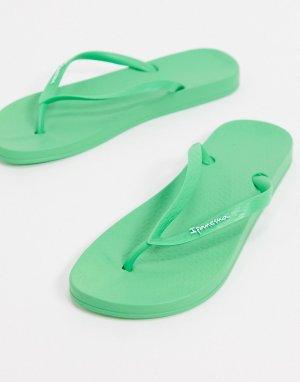 Зеленые шлепанцы -Зеленый Ipanema