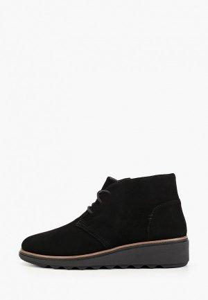 Ботинки Clarks Sharon Hop. Цвет: черный