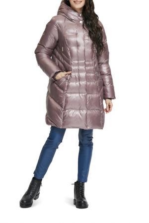 Пальто D`imma. Цвет: пепельно-розовый