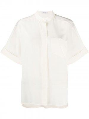 Рубашка с воротником-стойкой Equipment. Цвет: белый