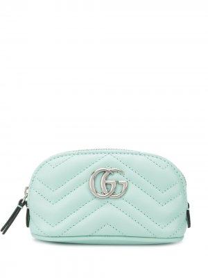 Стеганая ключница GG Marmont Gucci. Цвет: синий