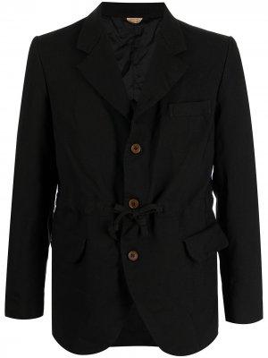 Однобортный пиджак с завязками Comme Des Garçons Homme Deux. Цвет: черный