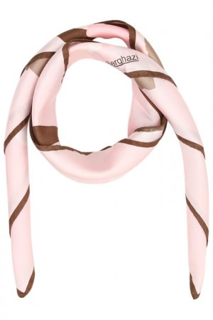 Платок F.FRANTELLI. Цвет: розовый, коричневый