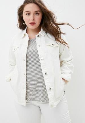 Куртка джинсовая Persona by Marina Rinaldi CAMMEO. Цвет: белый