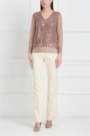 Пуловер с пайетками Marc Jacobs. Цвет: бежевый