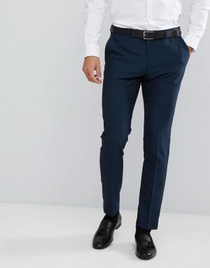 Облегающие брюки под смокинг Moss London BROS. Цвет: синий