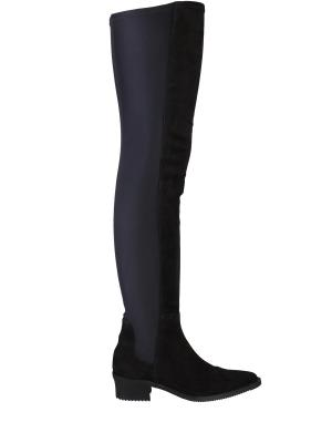 Сапоги-чулки на низком каблуке HIGH