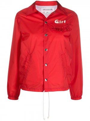 Бомбер с вышивкой Comme Des Garçons Girl. Цвет: красный