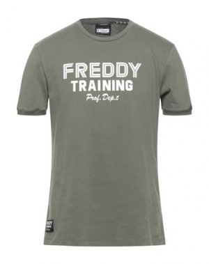 Футболка FREDDY. Цвет: зеленый-милитари