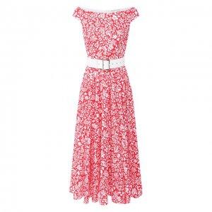 Хлопковое платье Alexander Terekhov. Цвет: розовый
