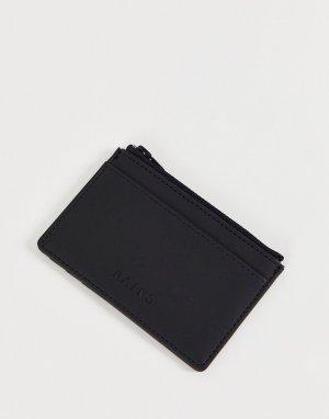 Черный бумажник на молнии RAINS 1645-Черный цвет