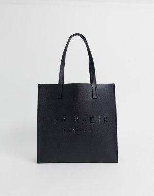 Черная сумка со штрихованной текстурой и логотипом -Черный цвет Ted Baker