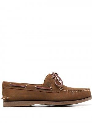 Топсайдеры на шнуровке Timberland. Цвет: коричневый