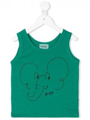 Elephant print tank top Bobo Choses. Цвет: зеленый