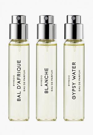 Набор парфюмерный Byredo La Sélection Nomade (Bal dAfrique/ Blanche/ Gypsy), 3*12 мл. Цвет: прозрачный