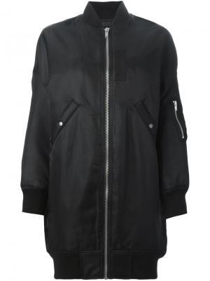 Куртка-бомбер свободного кроя R13. Цвет: чёрный
