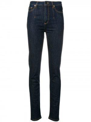 High-rise skinny jeans Alberta Ferretti. Цвет: синий