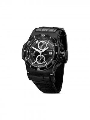 Наручные часы Abyss Chronograph 44 мм Jorg Hysek. Цвет: черный