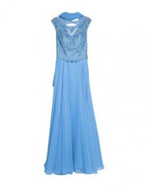 Длинное платье MIKAEL. Цвет: лазурный