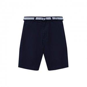 Хлопковые шорты Polo Ralph Lauren. Цвет: синий