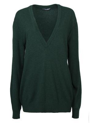Кашемировый пуловер DOLCE & GABBANA. Цвет: зеленый