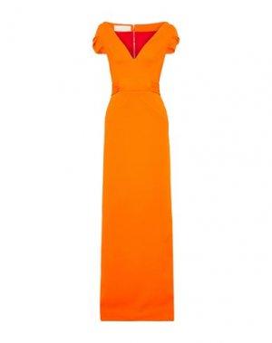 Длинное платье ANTONIO BERARDI. Цвет: оранжевый