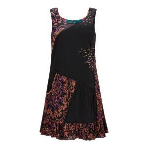 Платье-миди без рукавов с цветочным рисунком JOE BROWNS. Цвет: черный