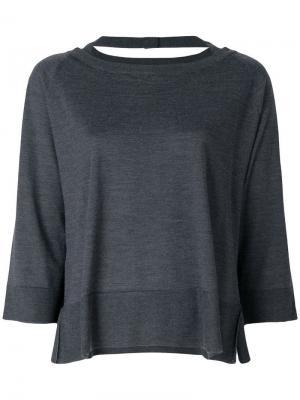 Cropped sleeve top Prada. Цвет: серый