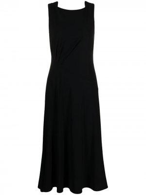 Платье с вырезом-лодочкой Patrizia Pepe. Цвет: черный