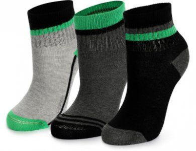 Носки для мальчиков , 3 пары, размер 31-33 Demix. Цвет: серый