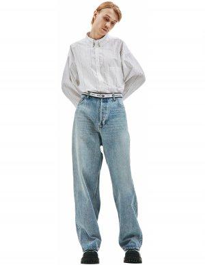 Широкие джинсы с логотипом на поясе Balenciaga