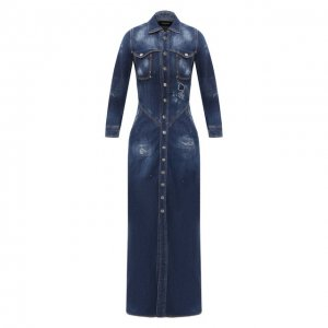 Джинсовое платье Dsquared2. Цвет: синий