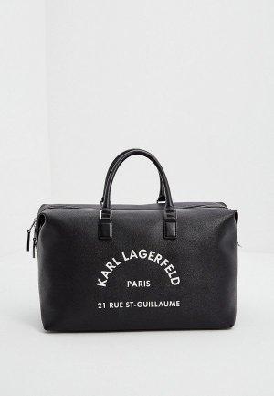 Сумка дорожная Karl Lagerfeld. Цвет: черный