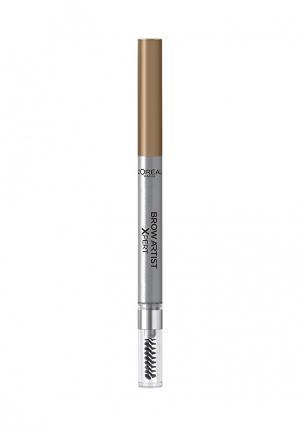 Карандаш для бровей LOreal Paris L'Oreal Brow Artist Xpert, Оттенок 101, Блонд. Цвет: коричневый