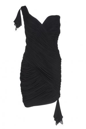 Асимметричное платье (1980-е) Azzaro Vintage. Цвет: черный