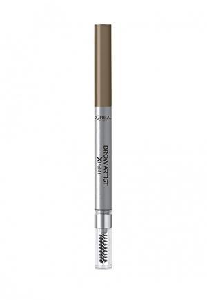Карандаш для бровей LOreal Paris L'Oreal Brow Artist Xpert, Оттенок 102, Холодный блонд. Цвет: коричневый