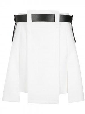 Асимметричная юбка с ремнем Gloria Coelho. Цвет: 3221