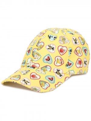 Бейсболка Valentine Chanel Pre-Owned. Цвет: желтый